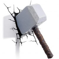 Lampara pared Martillo de Thor 3D